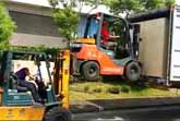 Two Forklifts And A Truck In Taiwan